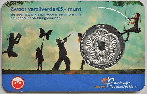 Zertifikat :Niederlande : 5 Euro Leeuwarden Europäische Kulturhauptstsadt  2018 bfr