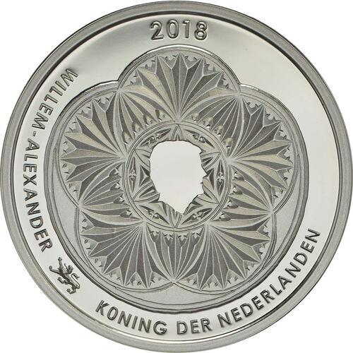 Rückseite:Niederlande : 5 Euro Leeuwarden Europäische Kulturhauptstsadt  2018 PP