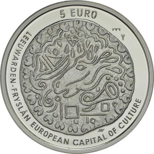 Vorderseite:Niederlande : 5 Euro Leeuwarden Europäische Kulturhauptstsadt  2018 PP