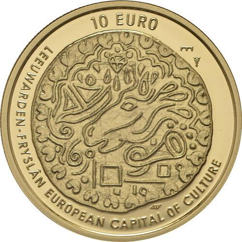 Vorderseite:Niederlande : 10 Euro Leeuwarden Europäische Kulturhauptstsadt  2018 PP