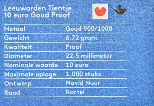Zertifikat:Niederlande : 10 Euro Leeuwarden Europäische Kulturhauptstsadt  2018 PP