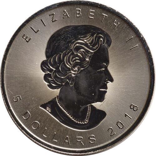 Rückseite :Kanada : 5 Dollar 30 Jahre Maple Leaf - Incuse - Tiefprägung  2018 Stgl.