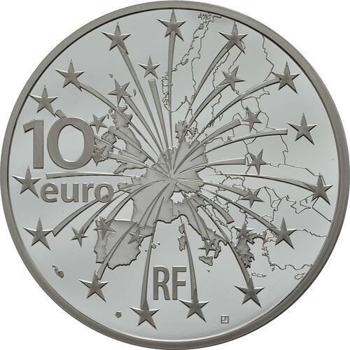 Rückseite:Frankreich : 10 Euro Vertrag von Maastricht  2018 PP