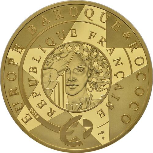 Rückseite:Frankreich : 200 Euro Barock und Rokoko  2018 PP