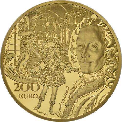 Vorderseite:Frankreich : 200 Euro Barock und Rokoko  2018 PP