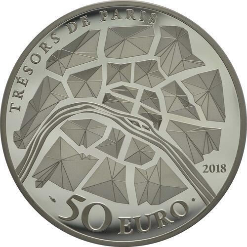 Rückseite:Frankreich : 50 Euro Tor des Schlosses von Versailles  2018 PP