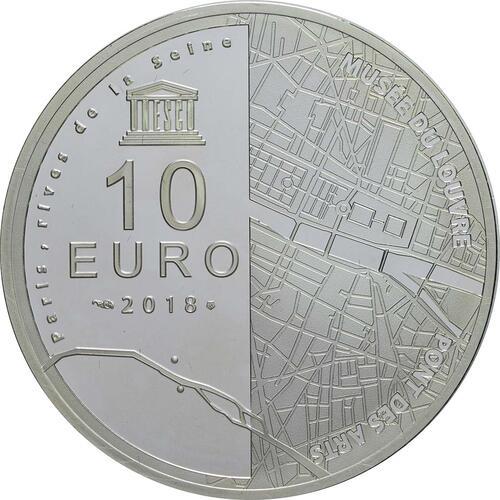 Rückseite:Frankreich : 10 Euro Louvre  2018 PP