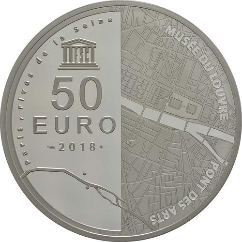 Rückseite:Frankreich : 50 Euro Louvre  2018 PP