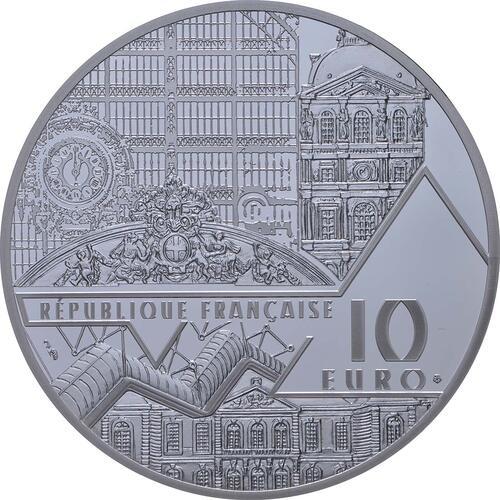 Rückseite:Frankreich : 10 Euro Bal du Moulin de la Galette  2018 PP