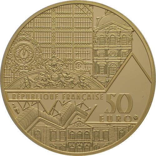 Rückseite:Frankreich : 50 Euro Bal du Moulin de la Galette  2018 PP