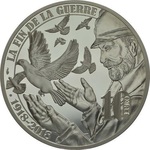 Rückseite :Frankreich : 10 Euro Frieden  2018 PP