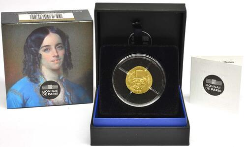 Lieferumfang:Frankreich : 50 Euro George Sand / Frederic Chopin  2018 PP