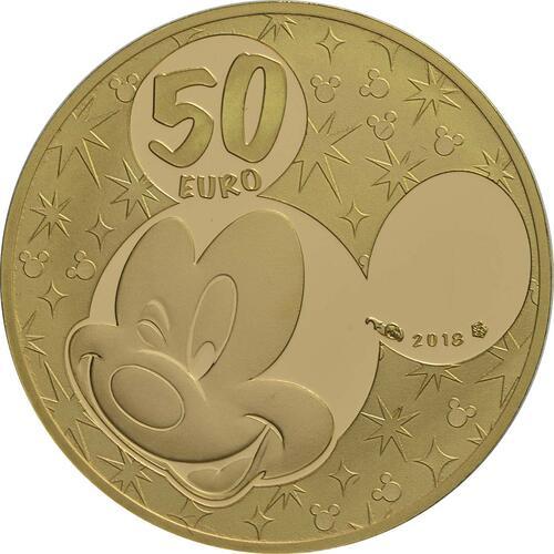 Rückseite:Frankreich : 50 Euro Mickey und seine Freunde  2018 PP