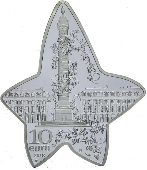 Rückseite:Frankreich : 10 Euro Boucheron in Form eines Efeublattes  2018 PP