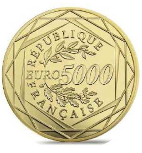 Lieferumfang:Frankreich : 5000 Euro Marianne  2018 Stgl.