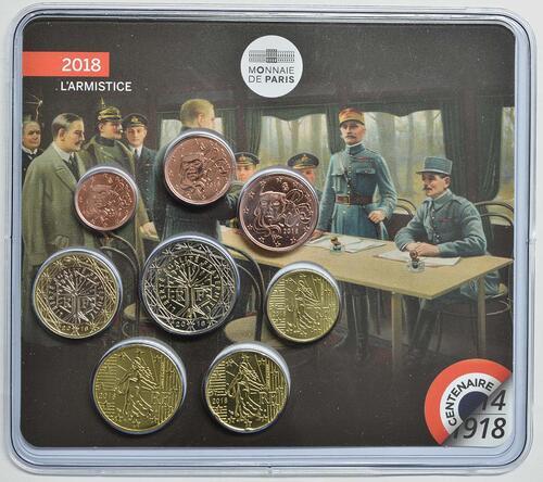 Vorderseite:Frankreich : 3,88 Euro Mini KMS Erster Weltkrieg  2018 Stgl.