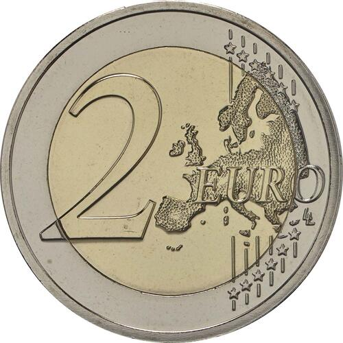 Vorderseite:Luxemburg : 2 Euro 150 Jahre Verfassung - Münzzeichen Brücke Servaasbrug  2018 Stgl.