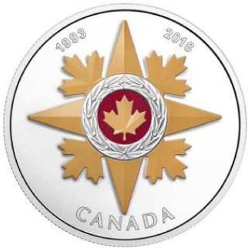 Lieferumfang:Kanada : 20 Dollar 25 Jahre Star of Military Valour - Orden  2018 PP