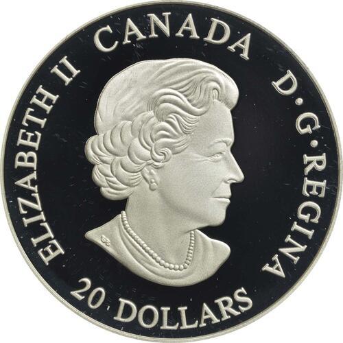 Rückseite:Kanada : 20 Dollar Nordische Galionsfiguren - The Dragon´s Sail  2018 PP