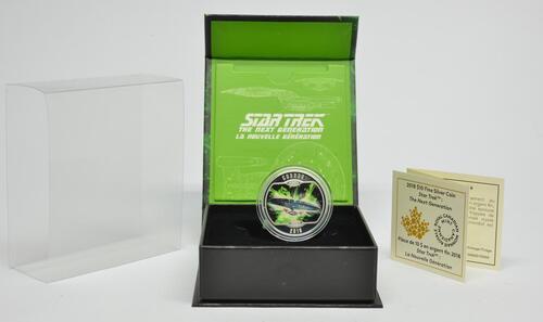 Lieferumfang :Kanada : 10 Dollar Star Trek - U.S.S. Enterprise NCC-1701-D  2018 PP