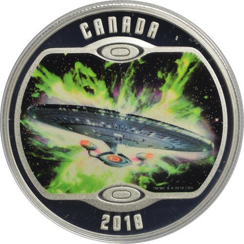 Vorderseite :Kanada : 10 Dollar Star Trek - U.S.S. Enterprise NCC-1701-D  2018 PP
