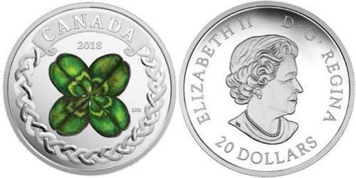 Lieferumfang:Kanada : 20 Dollar Vierblättriges Kleeblatt  2018 PP
