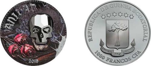 Lieferumfang:Äquatorial Guinea : 1000 CFA Crystal Skull - Vanidad  2018 PP