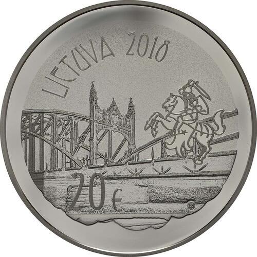 Rückseite:Litauen : 20 Euro 150. Geburtstag von Wilhelm Storstone-Vydune  2018 PP