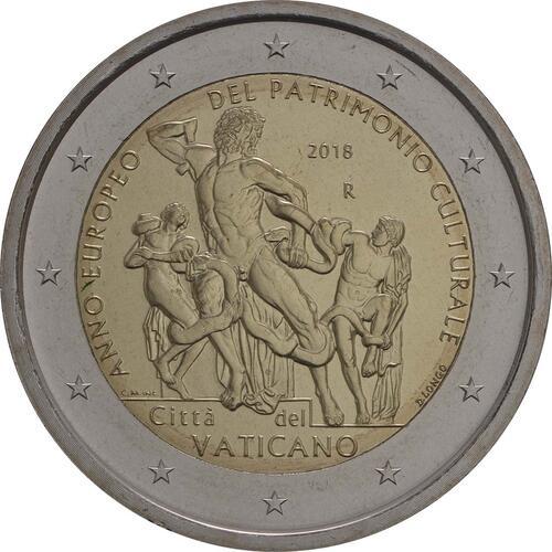 Rückseite:Vatikan : 2 Euro Europäisches Jahr des Kulturerbes  2018 Stgl.