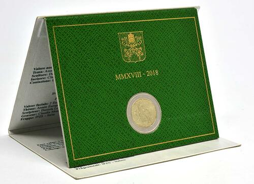 Lieferumfang:Vatikan : 2 Euro Europäisches Jahr des Kulturerbes  2018 Stgl.
