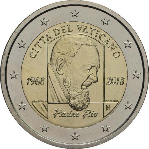 Rückseite:Vatikan : 2 Euro 50. Jahrestag des Todes von Pater Pio  2018 bfr