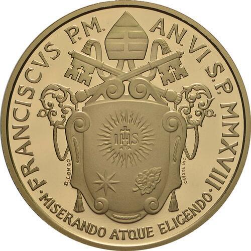 Rückseite:Vatikan : 50 Euro Die Kirche in Jerusalem  2018 PP