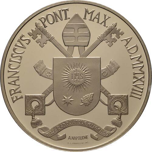 Rückseite:Vatikan : 200 Euro Die Kardinaltugenden - Die Mäßigung  2018 PP