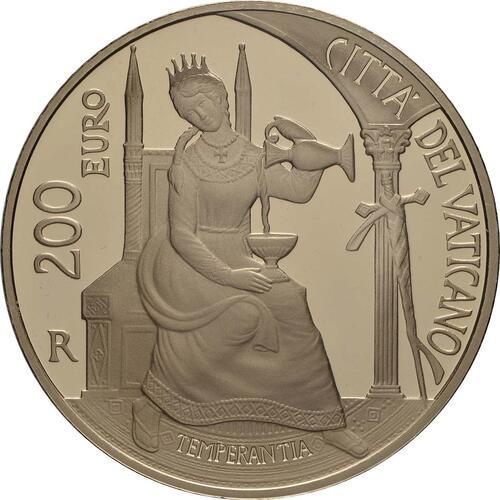 Vorderseite:Vatikan : 200 Euro Die Kardinaltugenden - Die Mäßigung  2018 PP