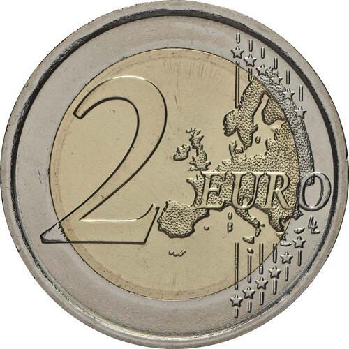 Vorderseite:Italien : 2 Euro 70 Jahre Verfassung Italiens  2018 Stgl.