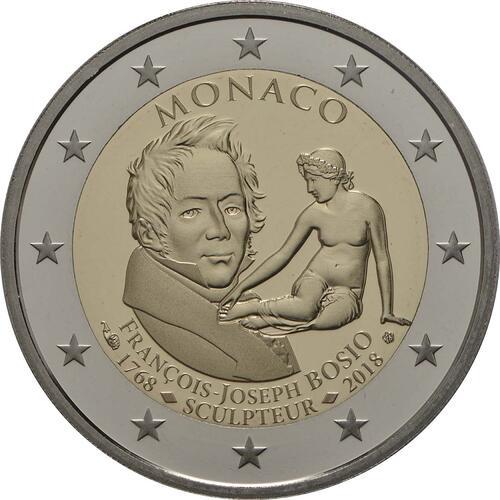 Rückseite:Monaco : 2 Euro 250. Geburtstag von Francois-Joseph Bosio  2018 PP