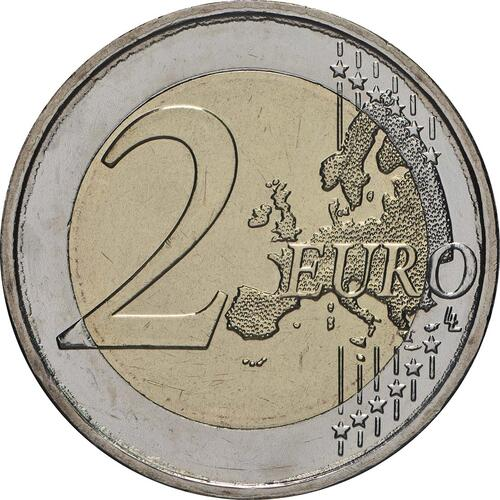 Vorderseite:Griechenland : 2 Euro 75. Todestag von Kostis Palamas  2018 bfr