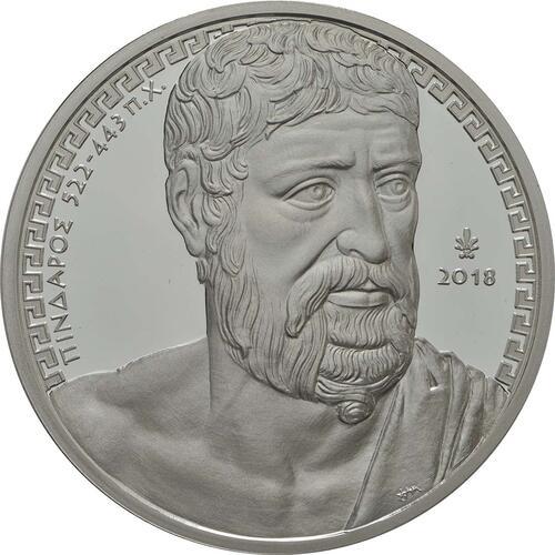 Vorderseite:Griechenland : 10 Euro Pindar - Poet  2018 PP