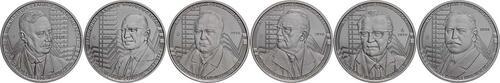 Vorderseite:Griechenland : 36 Euro 6x6 Euro Set Berühmte griechische Ökonomen  2018 PP