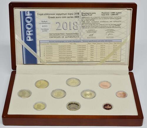 Lieferumfang:Griechenland : 7,88 Euro KMS Griechenland mit 2x2 Euro Gedenkmünzen  2018 PP