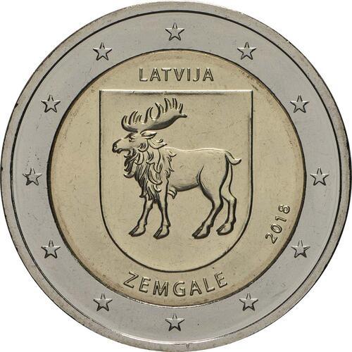 Rückseite:Lettland : 2 Euro Zemgale  2018 bfr