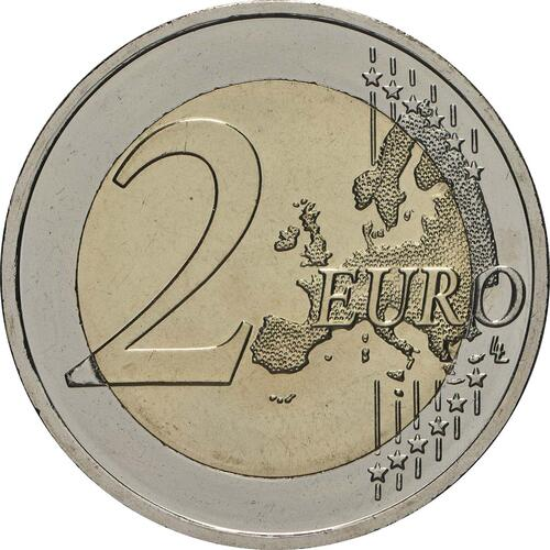 Vorderseite:Lettland : 2 Euro Zemgale  2018 bfr