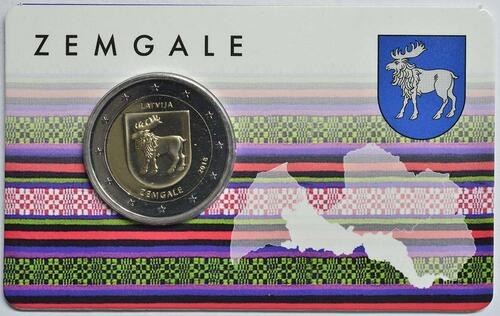 Lieferumfang:Lettland : 2 Euro Zemgale  2018 Stgl.