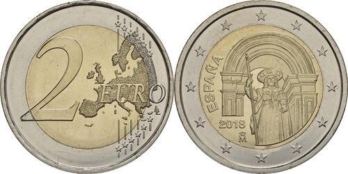 Lieferumfang :Spanien : 2 Euro Santiago de Compostela  2018 bfr