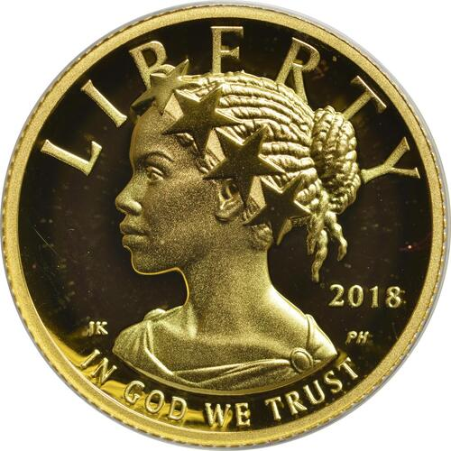 Rückseite :USA : 10 Dollar Black Liberty  2018 PP