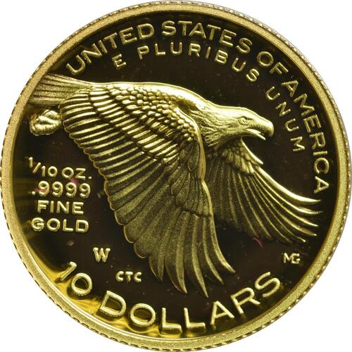 Vorderseite:USA : 10 Dollar Black Liberty  2018 PP