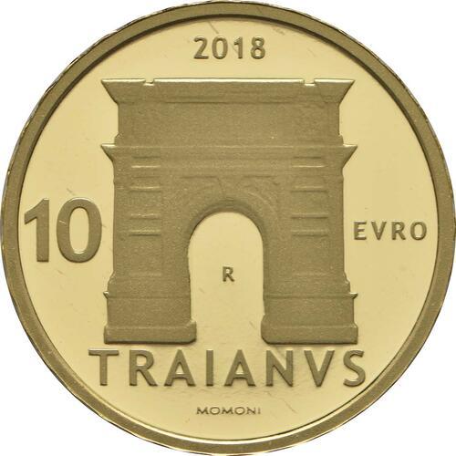 Rückseite:Italien : 10 Euro Trajan  2018 PP