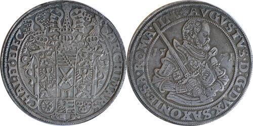 Lieferumfang:Deutschland : 1 Taler August 1553 - 1586 patina 1571 ss/vz.