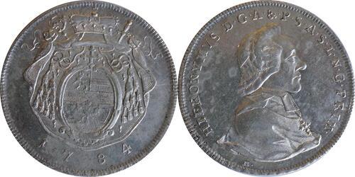 Lieferumfang :Deutschland : 1 Taler Hieronymus von Colloredeo 1772 - 1803  1784 vz.