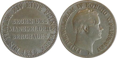 Lieferumfang :Deutschland : 1 Ausbeutetaler   1848 ss.